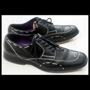 Bedford by Bed Stu Oxford Leather Shoes Mens Black